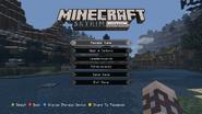Minecraft Skyrim Main Menu