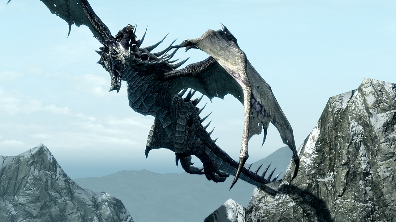 File:DragonPeak Dragonborn Screen.jpg