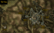 Tel Vos - Complete Local Map - Morrowind