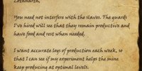 Instructions for Lothnarth