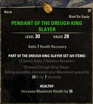 Dreugh King Slayer - Pendant 30