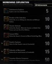 Morrowind Exploration Achievements