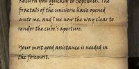 Letter from Septimus Signus