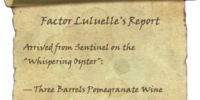 Factor Luluelle's Report