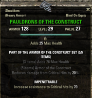 Armor of the Construct - Pauldrons 29