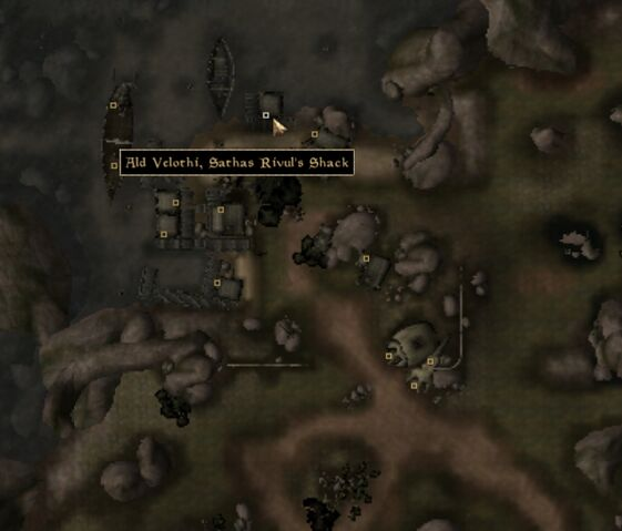 File:TES3 Morrowind - Ald Velothi - Sathas Rivul's Shack - location map.jpg