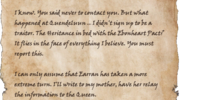 Letter to Egranor
