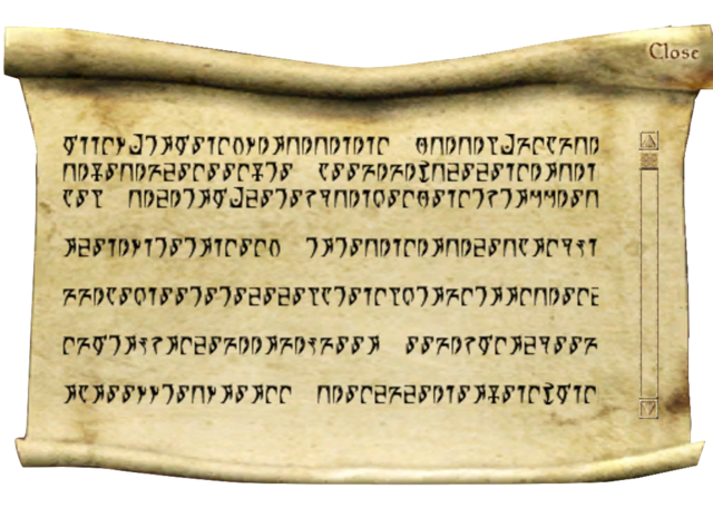 File:Message from Master Aryon - Morrowind.png
