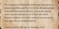 Letter from Agenor