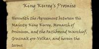 King Kurog's Promise