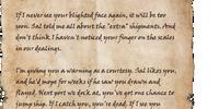 Letter to Edhelfin