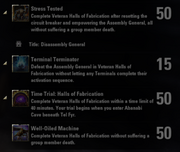 Halls of Fabrication Achievements - 4