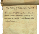 The Folly of Isolation, Part 8