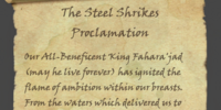 The Steel Shrikes Proclamation