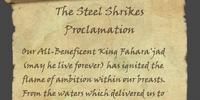 The Steel Shrikes Proclamation