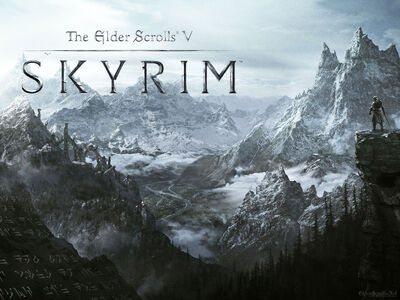 The mountains of Skyrim