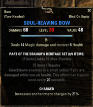 Draugrs Heritage - Soul-Reaving Bow 30