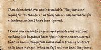 Letter from Peverel