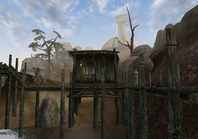 File:TES3 Morrowind - Ald Velothi - Lledsea Relas's Shack exterior.jpg