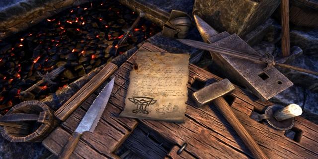 File:Crown Research Scroll, Blacksmithing.png