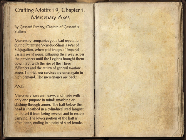 File:Crafting Motifs 19, Chapter 1, Mercenary Axes.png