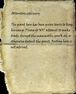 Official Warning