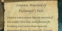 Ceyran, Warlord of Rulanyil's Fall