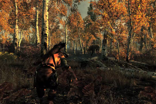 File:Hunting in Skyrim.png