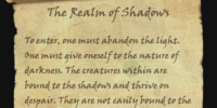 The Realm of Shadows