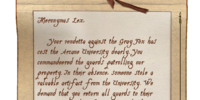 Note from Raminus Polus