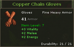 Copper Chain Gloves