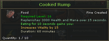 Cooked Rump