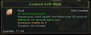 Cooked Soft Meat