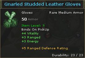 Gnarled Studded Leather Gloves