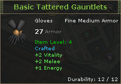 Basic Tattered Gauntlets