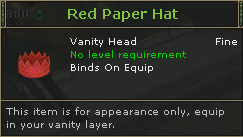 Red Paper Hat