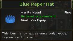 Blue Paper Hat