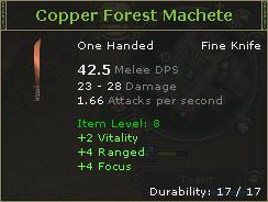 Copper Forest Machete
