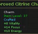 Improved Citrine Charm