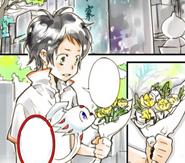 Chuuta removes flowers