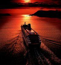 Ship-redsunset