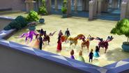 Jaquins at the palace