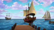 The ship sailing