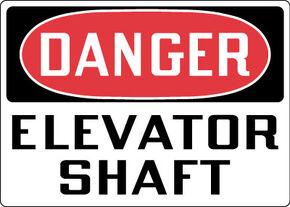 Danger Elevator Shaft DY30 OSHA
