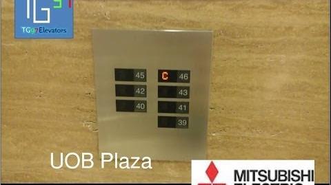 Mitsubishi DOAS Traction Elevators at UOB Plaza, Jakarta (Lift High C)