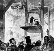 Otis elevator demonstration 1854