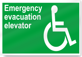 High-safety-emergency-evacuation-elevator-sign-2894