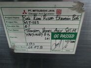 Mitsubishi parts sticker