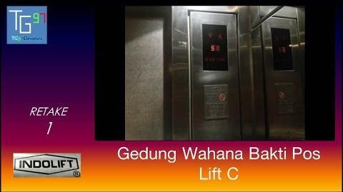 Indolift Traction Elevators at Gedung Wahana Bakti Pos, Bandung (Lift C, Retake 1)