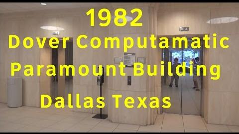 AWESOME 1982 Dover Computamatic Traction Elevators @ the Paramount Building in Dallas, TX